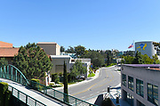 Looking up Mesa Road from the Mesa Parking Structure at the University of California Irvine, UCI