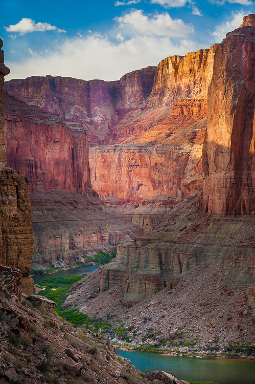 The Colorado River meandering through the Marble Canyon section of Grand Canyon National Park