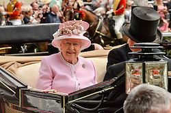 HM The QUEEN and HRH The DUKE OF EDINBURGH at day two of the Royal Ascot 2016 Racing Festival at Ascot Racecourse, Berkshire on 15th June 2016.