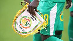 Senegal's Sadio Mane with the team's pennant prior to kick-off