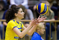 Tina Kaker of Luka Koper during volleyball match between Nova KBM Branik Maribor and OK Luka Koper in Final of Women Slovenian Cup 2014/15, on January 18, 2015 in Sempeter v Savinjski dolini, Slovenia. Photo by Vid Ponikvar / Sportida