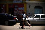 Street scene in downtown Tirana