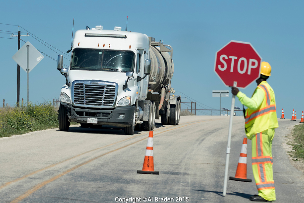 Tanker Trucks, Oil and Gas Fracking, Eagle Ford Shale Area, Texas