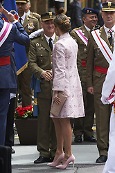May 26, 2018 - Logrono, La Rioja, Spain - Queen Letizia of Spain attended the Armed Forces Day Homage on May 26, 2018 in Logrono, La Rioja, Spain (Credit Image: © Jack Abuin via ZUMA Wire)
