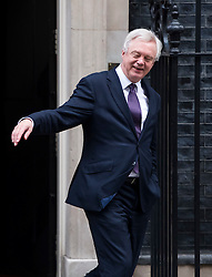 © Licensed to London News Pictures. 23/11/2016. London, UK. Secretary of State for Exiting the European Union DAVID DAVIS MP leaves 10 Downing Street in London following a cabinet meeting before Chancellor Philip Hammond delivers his first Autumn statement to parliament. Photo credit: Ben Cawthra/LNP