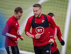CARDIFF, WALES - Sunday, November 17, 2019: Wales' Chris Gunter during a training session at the Vale Resort ahead of the final UEFA Euro 2020 Qualifying Group E match against Hungary. (Pic by David Rawcliffe/Propaganda)