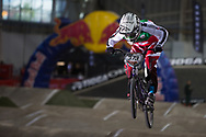 #373 (BLANC Renaud) SUI at the 2014 UCI BMX Supercross World Cup in Manchester.