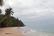 Boi beach, Principe, Sao Tome and Principe<br /> Sao Tome and Principe, are two islands of volcanic origin lying off the coast of Africa. Settled by Portuguese convicts in the late 1400s and a centre for slaving, their independence movement culminated in a peaceful transition to self government from Portugal in 1975.