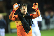 Josh Lillis broke the appearance record for a Rochdale goalkeeper today during the EFL Sky Bet League 1 match between AFC Wimbledon and Rochdale at the Cherry Red Records Stadium, Kingston, England on 8 December 2018.