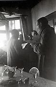 meeting in bar for church singing rehearsal Holland 1940s