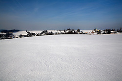 CZECH REPUBLIC VYSOCINA NEDVEZI 27JAN12 - Snowy winter landscape at the village of Nedvezi, Vysocina, Czech Republic.....jre/Photo by Jiri Rezac....© Jiri Rezac 2012
