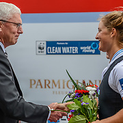 NZL W2- (b) Louise TRAPPITT (s) Rebecca SCOWN – 3rd place 6:54.79 SAT 30 AUG 2014<br /> <br /> Gerry Dwyer RNZ Chairman<br /> <br /> Crews racing the World Championships on The Bosbaan, Amsterdam, The Netherlands, 29/30/31 August 2014  Copyright photo © Steve McArthur / @rowingcelebration www.rowingcelebration.com