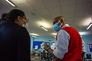 Volunteers arrived at Victoria Hospital and Hornchurch Library in London borough of Havering throughout Dec 15-22, 2020 - to help deliver a test run on a vaccination session led by NHS GP's for patients aged 80 years and over. (VXP Photo/ Andrew Blowers)