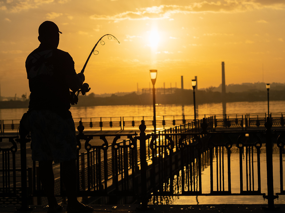 Sunrise in Havana with the fisherman is a special ritual for me