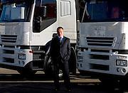 Belo Horizonte_MG, Brasil...Marco Mazzu, CEO da Iveco-Fiat em uma concessionaria da rede com o novo caminhao da marca...Marco Mazzu, CEO of Iveco-Fiat with the new truck...Foto: LEO DRUMOND / NITRO
