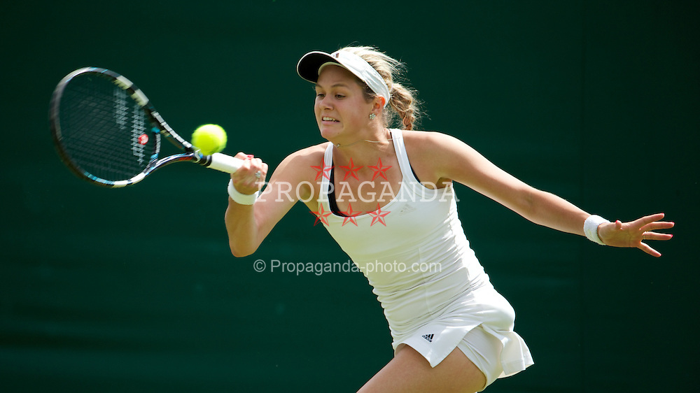 LONDON, ENGLAND - Tuesday, June 25, 2013: Jana Cepelova (SVK) during the Ladies' Singles 1st Round match on day two of the Wimbledon Lawn Tennis Championships at the All England Lawn Tennis and Croquet Club. (Pic by David Rawcliffe/Propaganda)