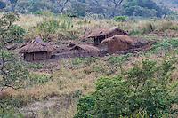 Informal Homestead  on the foothills of Mount Gorongosa, Gorongosa Mountain, Inhambane Province, Mozambique