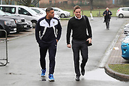 AFC Wimbledon manager Neal Ardley arriving during the EFL Sky Bet League 1 match between AFC Wimbledon and Blackpool at the Cherry Red Records Stadium, Kingston, England on 20 January 2018. Photo by Matthew Redman.