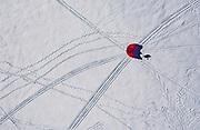 Snowkiting at Wayzata Yacht Club in Wayzata, Minnesota, on Sunday, Jan. 24, 2021.