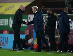 Burnley manager Sean Dyche (L) and Crystal Palace manager Roy Hodgson before the match - Mandatory by-line: Jack Phillips/JMP - 23/11/2020 - FOOTBALL - Turf Moor - Burnley, England - Burnley v Crystal Palace - English Premier League
