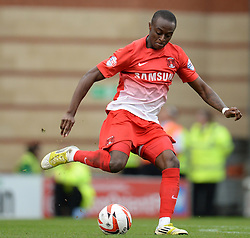 Leyton Orient's Moses Odubajo - Photo mandatory by-line: Mitchell Gunn/JMP - Tel: Mobile: 07966 386802 12/10/2013 - SPORT - FOOTBALL - Brisbane Road - Leyton - Leyton Orient V MK Dons - League One