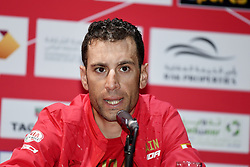 February 23, 2019 - Abu Dhabi - Foto LaPresse - Fabio Ferrari.23 Febbraio 2019 Abu Dhabi (Emirati Arabi Uniti).Sport Ciclismo.UAE Tour 2019 - Conferenza Tor Riders.Nella foto: Vincenzao Nibali..Photo LaPresse - Fabio Ferrari.February 23, 2019 Abu Dhabi (United Arab Emirates) .Sport Cycling.UAE Tour 2018 - Top rider press conference.In the pic: Vincenzo Nibali (Credit Image: © Fabio Ferrari/Lapresse via ZUMA Press)