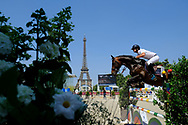 Paris, France : Mathieu Billot riding Unik d'Ick during the Longines Paris Eiffel Jumping 2018, on July 5th to 7th, 2018 at the Champ de Mars in Paris, France - Photo Christophe Bricot / ProSportsImages / DPPI