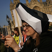 House of Commons,London,UK: 27th March 2017: Animalrights activists demonstration outside House of Commons during MPs' Debate The science is against it. The evidence is against it. Rationality & morality is against it. Stop the badger cull!, Westminster,London,UK. by See Li