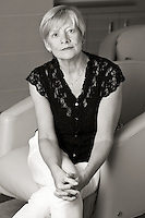 Portraits of writer and journalist Carolyn Heiman at her home in Oak Bay, BC