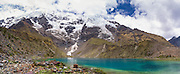 Lago Humantay, the Humantay Glacier and Montaña Humantay, near Soraypampa, Peru