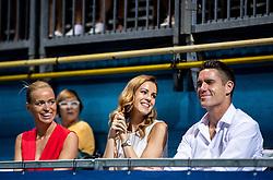 Tea Starc, Nusa Lesar and Gregor Krusic during Final match at Day 10 of ATP Challenger Zavarovalnica Sava Slovenia Open 2019, on August 18, 2019 in Sports centre, Portoroz/Portorose, Slovenia. Photo by Vid Ponikvar / Sportida