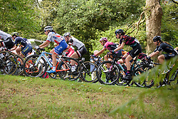 Peloton keep climbing on lap one at Grand Prix de Plouay Lorient Agglomération a 121.5 km road race in Plouay, France on August 26, 2017. (Photo by Sean Robinson/Velofocus)