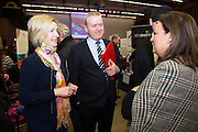 Burren Nature Sanctuary's Mary Bermingham with Declan Dooley and  Norah Casey at the annual SCCUL Enterprise Awards prize giving ceremony and business expo which was hosted by NUI Galway in the Bailey Allen Hall, NUIG. Photo:Andrew Downes