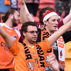 BRISBANE, AUSTRALIA - DECEMBER 11: A Brisbane Roar fan salutes the players during the round 10 Hyundai A-League match between the Brisbane Roar and Adelaide United at Suncorp Stadium on December 11, 2016 in Brisbane, Australia. (Photo by Patrick Kearney/Brisbane Roar)