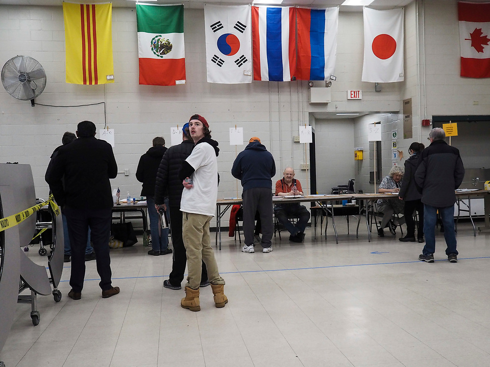 Voting begins at 6am in Nashua, New Hampshire's Ward 8 polling site.