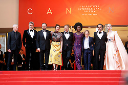 May 13, 2019 - Cannes, Alpes-Maritimes, Frankreich - The Jury: Robin Campillo, Yorgos Lanthimos, Pawel Pawlikowski, Alice Rohrwacher, Enki Bilal, Maimouna N'Diaye, Kelly Reichardt, Alejandro Gonzalez Inarritu and Elle Fanning attending the opening ceremony and screening of 'The Dead Don't Die' during the 72nd Cannes Film Festival at the Palais des Festivals on May 14, 2019 in Cannes, France (Credit Image: © Future-Image via ZUMA Press)