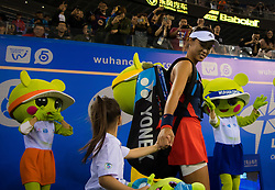 September 26, 2018 - Qiang Wang of China walks onto the court for her third-round match at the 2018 Dongfeng Motor Wuhan Open WTA Premier 5 tennis tournament (Credit Image: © AFP7 via ZUMA Wire)