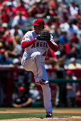 June 3, 2018 - Anaheim, CA, U.S. - ANAHEIM, CA - JUNE 03: Los Angeles Angels starting pitcher Tyler Skaggs (45) during the MLB regular season game against the Texas Rangers on June 03, 2018 at Angel Stadium of Anaheim in Anaheim, CA. (Photo by Ric Tapia/Icon Sportswire) (Credit Image: © Ric Tapia/Icon SMI via ZUMA Press)