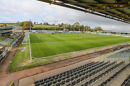 The New Lawn, home of Forest Green Rovers during the Vanarama National League match between Forest Green Rovers and Guiseley  at the New Lawn, Forest Green, United Kingdom on 22 October 2016. Photo by Shane Healey.