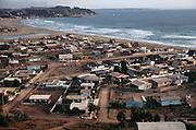 The beachfront town of La Laguna, Chile.
