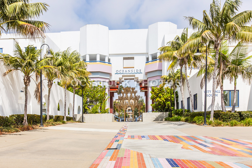 Oceanside Civic Center and City Hall Front Entrance