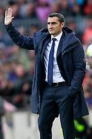 FC Barcelona's coach Ernesto Valverde during La Liga match. March 4,2018. (ALTERPHOTOS/Acero)