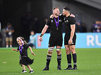 Rugby Union - 2019 Rugby World Cup - Bronze Final (Third Place Play-Off): New Zealand vs. Wales<br /> <br /> New Zealand's Kieran Read with Sonny Bill Williams after the game, at Tokyo Stadium, Tokyo.<br /> <br /> COLORSPORT/ASHLEY WESTERN