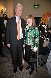 Nobel Prize winning economist SIR JAMES MIRRLEES and LADY MIRRLEES at the 3rd Fortune Forum Summit held at The Dorchester Hotel, Park Lane, London on 3rd March 2009.