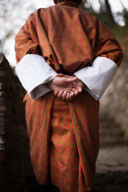 Portrait of Goh (tradional  robe worn) from Bhutan.