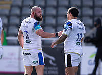 Rugby Union - 2020 / 2021 Gallagher Premiership - Round 13 - Newcastle Falcons vs Bath - Kingston Park<br /> <br /> Tom Dunn of Bath scores his teams third try<br /> <br /> Credit : COLORSPORT/BRUCE WHITE