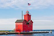 64795-03203 Holland Lighthouse (Big Red) on Lake Michigan Holland, MI