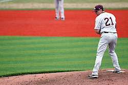 06 April 2013:  Cody Schumacher pitches during an NCAA division 1 Missouri Valley Conference (MVC) Baseball game between the Missouri State Bears and the Illinois State Redbirds in Duffy Bass Field, Normal IL
