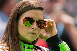 May 19, 2018 - Indianapolis, IN, U.S. - INDIANAPOLIS, IN - MAY 19: Danica Patrick, driver of the #13 Ed Carpenter Racing Chevrolet, looks on during Indianapolis 500 qualifications on May 19, 2018, at the Indianapolis Motor Speedway Road Course in Indianapolis, Indiana. (Photo by Adam Lacy/Icon Sportswire) (Credit Image: © Adam Lacy/Icon SMI via ZUMA Press)