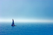 sailboat and approaching storm on Georgian Bay<br />Wahnekewaning Beach<br />Ontario<br />Canada